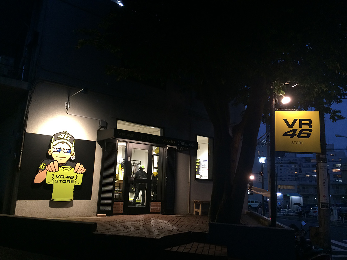 VR46 Store Tokyoの外観